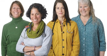 Stephanie Barss, FNP; Jennifer Blechman, MD; Lisa Lewis, MD & Helen Poindexter, FNP.  Photo Partners in Care
