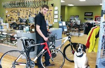 Casey Meudt, co-owner of Blazin Saddles in Sisters. Photo Commute Options