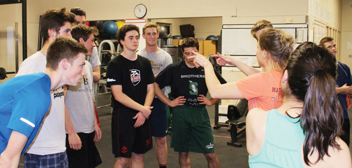 Summit High School Senior Boys Practice for Mr. Thunder Pageant