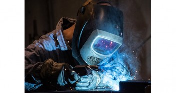 A welder at Buckstop Truckware courtesy of EDCO
