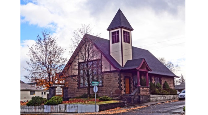 The Historic Bend, Oregon Old Stone Church is Now a Performing Arts Center