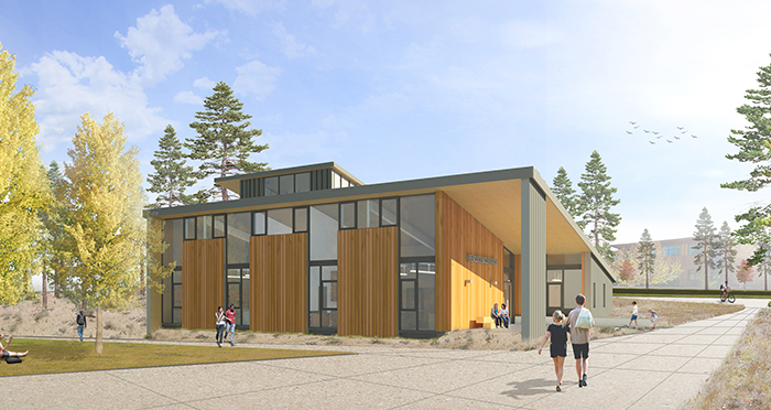 ocu cascades science center rendering from Hennebery Eddy Architects Inc