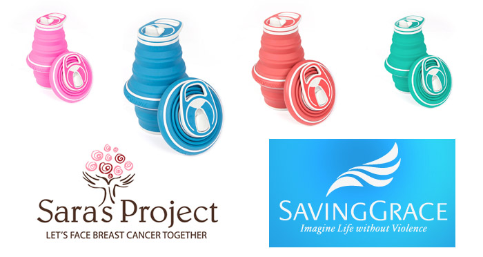 local water bottle company hydaway supports awareness of breast