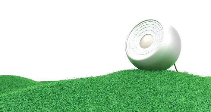 speaker-on-grass