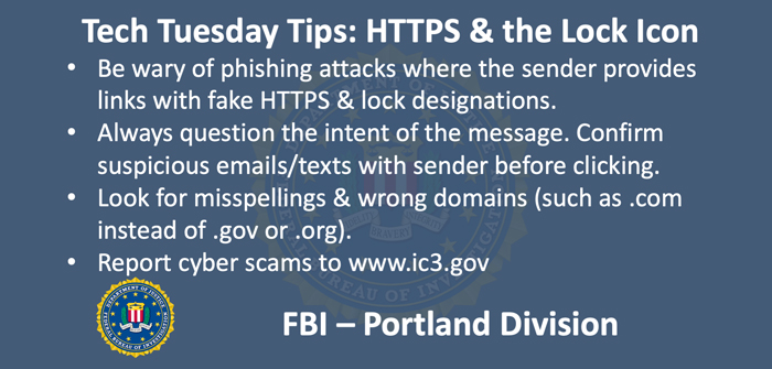 Oregon FBI Tech Tuesday: Building A Digital Defense When Trying To Surf Safely
