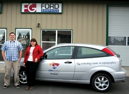 med_Bryan_Rossiter_and_Jennifer_Fishback_outside_Ford_Graphics_copy1