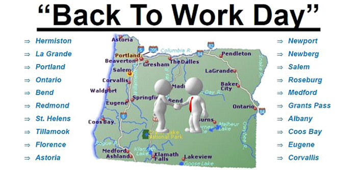 """Statewide Hiring Event — """"Back to Work Day"""" - Cascade Business News"""